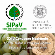 Proceedings of the XXIV National Congress of the Italian Phytopathological Society (Ancona, 5-7 September 2018)
